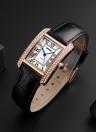 SKMEI 3ATM impermeable Moda Casual Reloj Mujeres Relojes de cuarzo