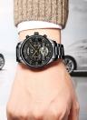 KINYUED Affaires Montre Automatique Mécanique Hommes Montres 3ATM Montre-Bracelet Résistant à L'eau Mâle Relogio Musculino