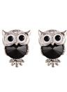 Moda Naughty Owl Crystal Rhinestone Sparkle Cubic Zirconia Ear Studs Pendientes