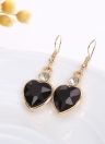 Gold Plated Jewelry Set for Women Crystal Heart Necklace Earrings Jewelry Wedding Accessories