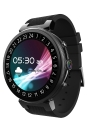 Android 5.1 3G Smart Watch Phone 1.3GHz Quad-core CPU 2G RAM e 16G FLASH Suporte Nano SIM Card 1.3inch TFT Touch Screen BT 4.0 GSM e WCDMA WiFi Câmera GPS Pedômetro Perda cardíaca couro genuíno Smartwatch