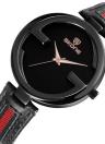 SKONE Reloj de pulsera de cuarzo para mujer de cuero genuino 3ATM Reloj de pulsera para mujer resistente a agua para mujer Relogio Feminino
