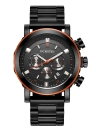 OCHSTIN Fashion Stainless Steel Chronograph Casual Sports Style  Men Wristwatch