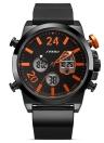 SINOBI спортивные кварцевые часы 3ATM водонепроницаемые мужские часы