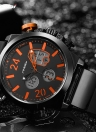 SINOBI Sport Quartz Watch 3ATM Relógios impermeáveis para homens