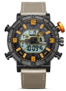 SINOBI Sport Quartz Watch 3ATM Hommes résistant à l'eau Montres Rétro-éclairage Montres-bracelets Homme Chronographe