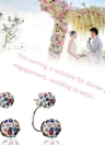 Fashion Crystal Diamond Ball Ear Studs Ear Accessories with Double Balls Earrings for Women and Girls
