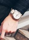 OCHSTIN Relógio de pulso de couro genuíno militar Quartz relógio de homens