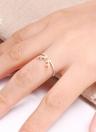 Romacci личности мода стерлингового серебра 925 животных оленей Рога Рога регулируемые открытия палец кольцо Свадебные украшения взаимодействия для женщин девушка