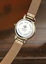 WWOOR Fashion Mesh Stainless Quratz relógio resistente à água