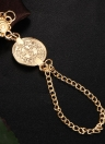 Retro Vintage Punk Antique Silver Gold Hollow Lady Anklet Bracelet