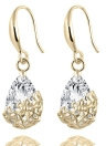 Casamento Crystal Zircon Dangle Elegant Classic Women Earring Flowers