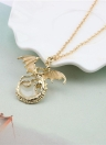 Luminous Dragon Necklace Mulheres Fashion Personality Pendant Alloy Necklace Party Jewelry Accessory Gift