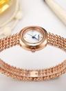 RENACIMIENTO Relojes de lujo de acero inoxidable de cuarzo para mujer a prueba de agua Laides Business Watch Viste Femenino Feminio Relogio