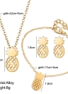 Jewelry Set Hollow Pineapple Necklace Ear Studs Bracelet Combination For Women