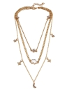 Многослойное ожерелье Лунная звезда Слон Подвеска Ожерелье Clavicle Chain Women Jewelry