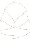 Moda retrò sexy corpo catena di rame perline pettorale catena clavicola catena accessorio di gioielli