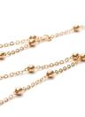 Mode Rétro Sexy Corps Chaîne Cuivre Perles Chest Chaîne Clavicule Chaîne Bijoux Accessoire