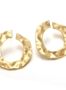 Fashion Irregular Geometry Circular Earrings for Women and Girls Round Ear Studs Accessories with Zinc Alloy