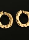 Boucles d'oreilles circulaires géométriques irrégulières de mode pour les femmes et les filles Boucles d'oreilles rondes accessoires avec de l'alliage de zinc