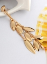 1pcs Style of Leaf Tassel Earring Personality Perfect Neutral Ear Bones Clip Ear Studs Accessories with Zinc Alloy