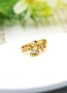Zircon amor corazón gota colgante carta te amo Bowknot anillo 18K oro enchapado boda joyería para mujer Nina