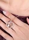 Mode lettre amour coeur clé perle pendentif Zircon collier chaîne 18K or plaqué cuivre pour femmes Lady Girl Gift contemporrain
