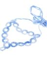 Dégradé de couleur coton fil Crochet pied chaîne Bracelet bracelet de cheville géométrique sandales de plage pieds nus pour