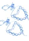 Gradiente di colore cotone filo Crochet piede Catena Bracciale Cavigliera geometrica a piedi nudi sandalo da spiaggia