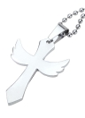 Moda personalizada transversal da asa do anjo pingente colar corrente Vintage retrô Punk homem Womem jóia acessório