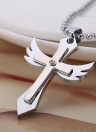 Fashion Punk Cross Pendentif ange pendentif Chaîne Hommes Femmes Collier