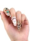 1pc Fashion Nail Schmuck Bowknot Krone Crystal Finger Nail Art Ring Beauty Nail Art bezaubert
