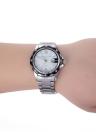 CHICA alta calidad aleación reloj cuarzo impermeable hombres ver venta caliente moda reloj exacto con el calendario