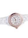 SKONE Fashion Cool Ceramic Waterproof Rhinestone Embedded Watch