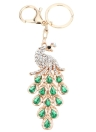 Fashional ювелирные изделия пустотелые сверкающих горный хрусталь золотистые Павлин кулон брелок брелок для ключей
