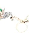 Fashional bijoux creux Shinning strass Peafowl Aureate pendentif porte-clefs/Key Chain