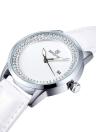 SKONE 2016 Marca Moda Diamond Rhinestone Quartz Luxo Women Watch PU Leather Strap resistente à água Lady Vestido relógio com calendário
