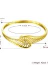 Pulseira de bronze incorporado com Zircon AAA com uma abertura & ocas linhas Golden & Golden Rose Fashional acessórios para mulheres