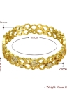 Hollow Brass Bangle Bracelet Fashional Accessories for Women