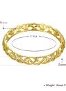Pulseras de latón hueco redes integrada con circones AAA con un accesorios de Fashional apertura oro y oro rosa para las mujeres