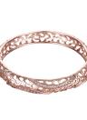 Pulseras de latón hueco agua gotas integrados con Zircon AAA con una apertura de oro y oro rosa accesorios del Fashional para mujeres