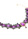 Gothic Lace Collar Necklace with Crystal Stone Pendant