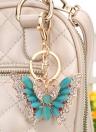 Bela cor Multi Cristal strass Opal borboleta pingente chaveiro moda mulheres jóias carro chaveiro bolsa bolsa charme acessório presente