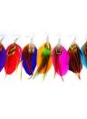 Mulheres moda pena longa colorido bonito candelabro Dangle brinco brinco jóias acessório presente novo