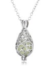 Glow Hollow Water Drop Pendant Necklace