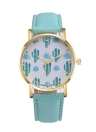 PAPHITAK New Fashion Cactus Quartz Leather Belt Cacti Women Wrist Watch