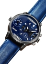 GUANQIN Sapphire Luminoso Dual Time Display Orologio Uomo al quarzo