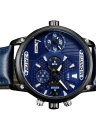 GUANQIN Sapphire Luminous Dual Time Display Quartz Montre Homme