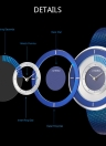 SINOBI moda casual reloj 3ATM resistente al agua relojes de cuarzo