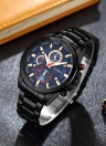 CURREN 2017 Fashion Luminous Stainless Steel Men Watch